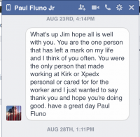 Personal Note from Paul Fluno